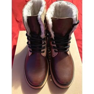Burberry Lace Up Weather Boot